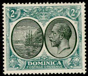 DOMINICA SG 76, 2d black & grey, M MINT.