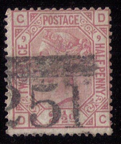 Great Britain Sc #67 (P9) Used (Sg 141) F-VF CV $55.00