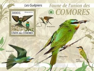COMORES 2009 SHEET BIRDS BEE EATERS ABELHARUCOS GUEPIERS OISEAUX BEES cm9413b