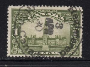 Canada Sc 159 1929 $1 Parliament Building stamp used