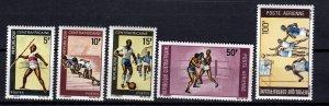 J26929 1969 central africa republic set mh #113-5,c71-2 sports