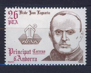 ANDORRA SPANISH 1983 MNH SC.159 J.Laguarda,bishop