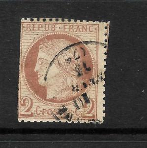 FRANCE 1871-76  2c  RED BROWN  CERES  FU SG187