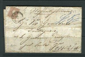 ITALY; LOMBARDY VENETIA 1860s Scarce Austria usage LETTER/COVER