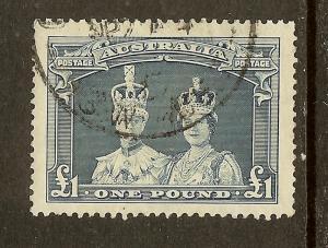 Australia, Scott #179; L1 King George VI and Queen Elizabeth, Used