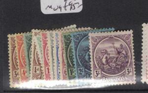 Barbados SG 213-228 MOG (5dsh)