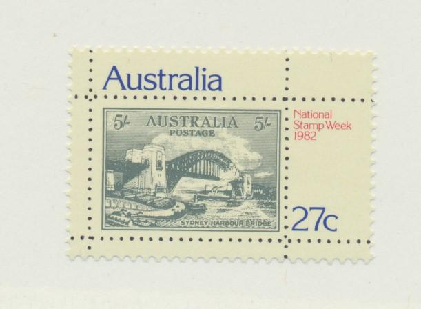 Australia Scott #846, Mint Never Hinged MNH, National Stamp Week Issue From 1...