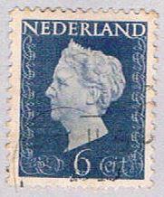Netherlands 301 Used Queen Wilhelmina 1953 (BP32433)