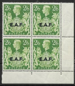 B.O.I.C.-SOMALIA SGS9 1946 2/6 YELLOW-GREEN MNH BLOCK OF 4