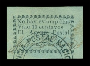 COLOMBIA 1901 RIO-HACHA - Local stamps 10c blue - used - Postal clerk signed - R