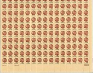 1978-80 U.S 13¢ Indian Head Penny complete sheet of 150 MNH Sc# 1734