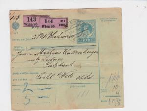 austria wein 1914 revenue stamps card  ref r13490