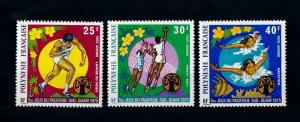 [71625] French Polynesia 1975 Sport Volleyball Swimming Athletics Airmail MNH