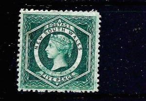NEW SOUTH WALES 1882-97    5d     QV  MH  P12   SG 233a