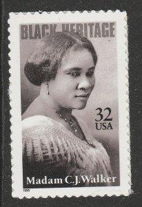 US 3181 Black Heritage Madam C.J. Walker 32c single (1 stamp) MNH 1998