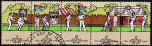 Australia. 1977 18c(Strip of 5). S.G.647/651 Fine Used