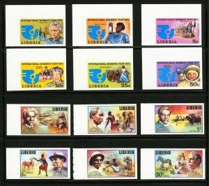 Liberia #697 - #702,  #709 - #714,  1975 Imperf Error Sets, Rare