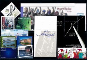 [58591] Aland Åland 2009 Complete Year Set Incl bookletsMNH