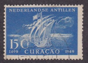 Netherlands Antilles # 205, Ship of Ojeda, Used, 1/3 Cat.