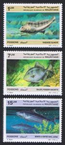 Mauritania Fish 3v SG#896-898 SC#631-633