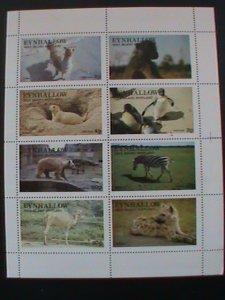 EYNHALLOW SCOTLAND STAMP:1977 WILD ANIMALS  MINT- MNH - MINI SHEET #2