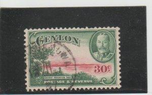 Ceylon  Scott#  272  Used  (1935 Ancient Reservoir)