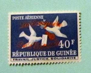 Guinea - C35, MNH. Dove, Letter, Ovpt. SCV - $0.60