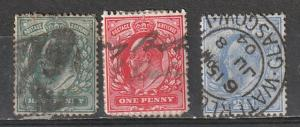 # 127-8,131Great Britain Used Edward VII