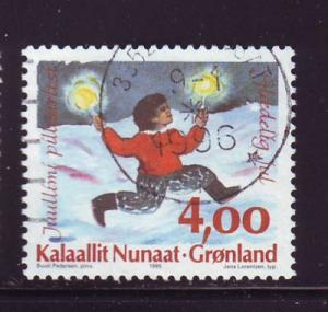 Greenland Sc 301 1995  4 kr Christmas stamp used