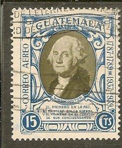 Guatemala  Scott C92a  Washington   Used