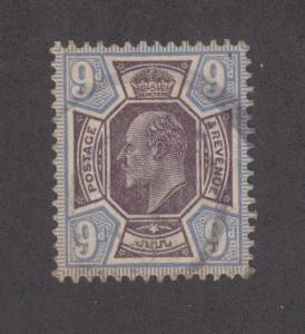 Great Britain Sc 136 used 1902 9p KEVII, F-VF