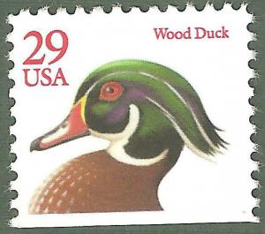 2485 Wood Duck (Red Lettering) Single Mint/nh FREE SHIPPING