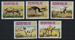 Upper Volta Donkeys Goose Birds Goat Dromedaries Animals 5v 1972 MNH SG#392-396