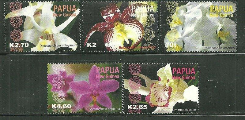 Papua New Guinea MNH 1118,1120-3 Orchids