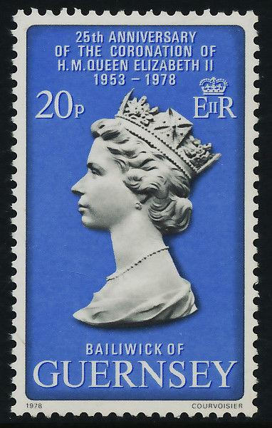 Guernsey 163 MNH - Queen Elizabeth 25th Anniv of Coronation