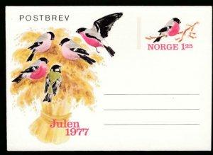 NORWAY Mi. K47 POSTAL STATIONERY LETTER CARD 125o BIRDS