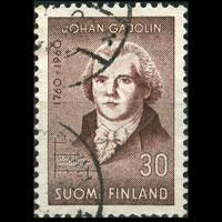 FINLAND 1960 - Scott# 370 Chemist Gadolin Set of 1 Used