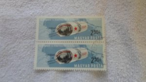 HUNGARY 2 space stamps MNH. CTO. 1964