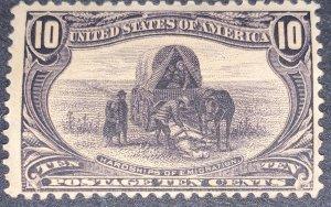 US #290 MNH OG.  1898 10c Trans-Mississippi Exposition.
