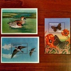 Exclusive Birds Ducks Butterflies Stamps of Turkmenistan 2002