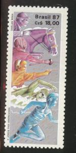 Brazil Scott 2100 MNH** 1987 Horse sports stamp