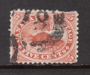 Canada #15 Used With 4 Ring 18 Cancel