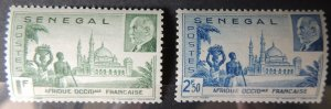 Senegal 1941 french vichy government marshal petain mosque religion 2v MNH
