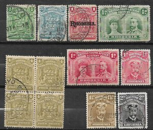 COLLECTION LOT OF # 792 RHODESIA 12 STAMPS 1898+ CV + $25