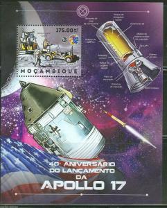 Mozambique MNH S/S 40th Anniversary Of Apollo 17 Space 2012