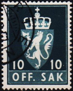 Norway. 1955 10ore S.G.0459  Fine Used