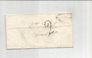 1818 GREAT BRITAIN STAMPLESS FOLDED COVER