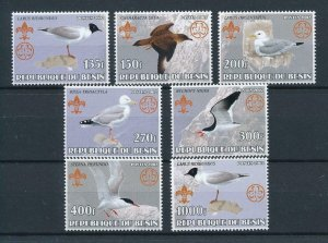 [105347] Benin private issue 2002 Birds vögel oiseaux scouting jamboree  MNH