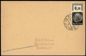 3rd Reich Germany GasrschSudetenland Annexation Provisional Cover 67092