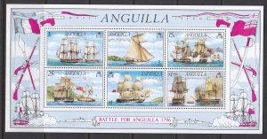 Anguilla, Sc 264a (5), MNH, 1976, Battle of Anguilla, Fault: Fold UR